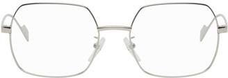 Balenciaga Silver Square Glasses
