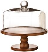 Jay Import Brown Madera Pedestal Cake Plate