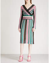 Missoni Striped knitted wrap dress