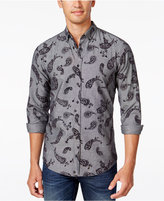 HUGO BOSS Orange Men's Paisley Long-Sleeve Shirt