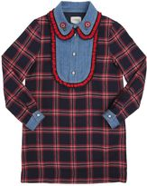 Gucci Cotton Flannel & Denim Dress