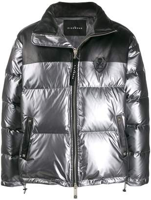 John Richmond metallic padded jacket