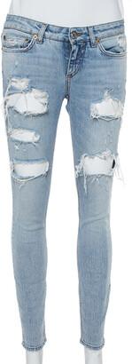 Dolce & Gabbana Blue Denim Distressed Jeans XS