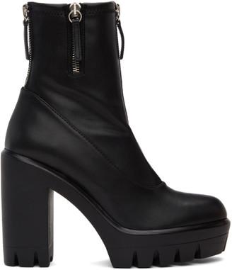 Giuseppe Zanotti Black Blaze Stretch Heeled Boots