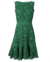 Valentino Macrame Lace and Silk Dress