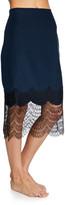 Kiki de Montparnasse Charmeuse Skirt w/ Lace Trim