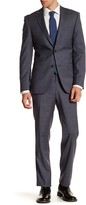 Simon Spurr Charcoal Checked Two Button Notch Lapel Regular Fit Suit