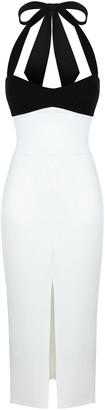 Rasario Stretch-Crepe Halterneck Midi Dress