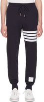 Thom Browne Navy Classic Four Bar Lounge Pants