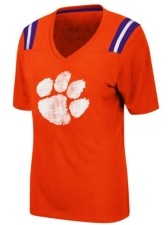 Colosseum Women's Clemson Tigers Rock Paper Scissors T-Shirt