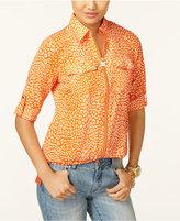 MICHAEL Michael Kors Leopard-Print Utility Shirt