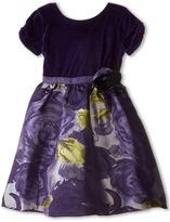 Us Angels Velvet/Brocade Cap Sleeve w/ Flower & Full Skirt (Toddler)