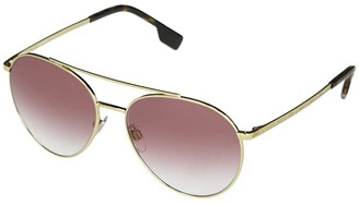 Burberry 0BE3115 (Pale Gold/Clear Gradient Pink) Fashion Sunglasses