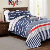 Lush Decor Lush Décor Sausage Dog 3-Piece Twin Reversible Quilt Set in Navy