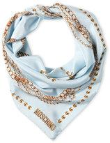 Moschino Pearls & Chain Silk Scarf