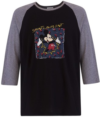 Saint Laurent Mickey Mouse T-shirt