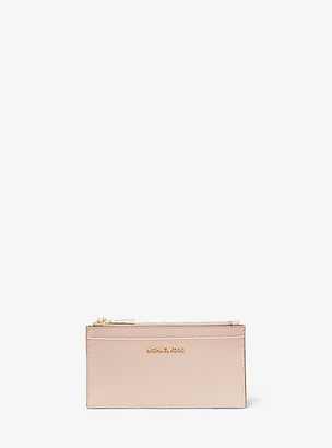 MICHAEL Michael Kors MK Large Pebbled Leather Card Case - Soft Pink - Michael Kors