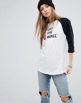 Vans Off The Wall Logo Oversized Raglan T-Shirt
