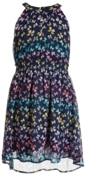 Epic Threads Big Girls Butterfly-Print High-Neck Dress, Created for Macy's