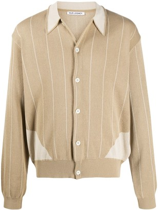 Our Legacy striped V-neck cardigan