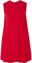 Alexander McQueen Cape-back Crepe Mini Dress - Red