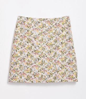 LOFT Floral Embroidered Shift Skirt