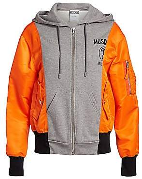 Moschino Women's Two-Tone Hooded Jacket