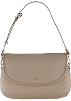 Tula Alpine Originals Medium Leather Flap Over Shoulder Bag, Beige