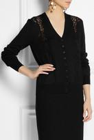 Dolce & Gabbana Lace-paneled wool cardigan