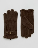 Dents Chester Suede Gloves In Brown