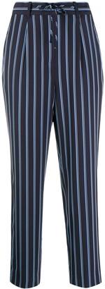 Stripe-Print Slim-Fit Trousers