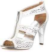 MICHAEL Michael Kors Berkley Perforated T-Strap Zip Sandal