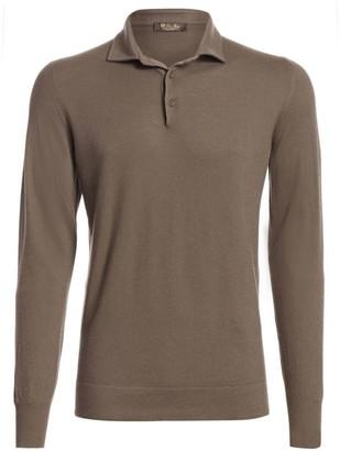 Loro Piana Long-Sleeve Cashmere Polo