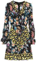 Etro Ruffle-trimmed floral silk dress