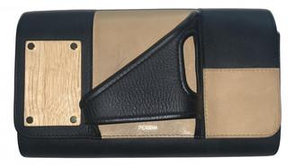 Perrin Paris Black Leather Clutch bags