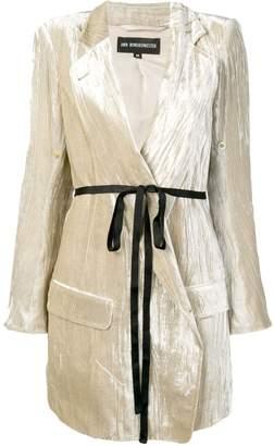 Ann Demeulemeester long belted blazer