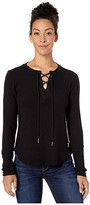 Straight Down Duchess Top (Black) Women's Clothing