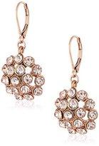 Anne Klein Rose Gold-Tone Silk Leverback Drop Earrings
