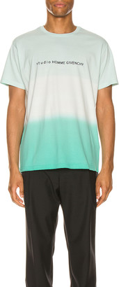 Givenchy Degrade Tee in Mint Green   FWRD