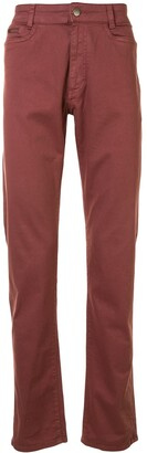 Gieves & Hawkes Mid-Rise Straight Jeans
