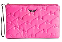 Zadig & Voltaire Quilted Leather Wallet-On-a-Strap