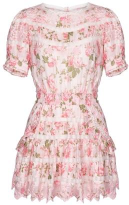 LoveShackFancy Augustine floral cotton minidress