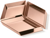 Ghidini 1961 - Axonometry Serving Tray - Set of 3 - Rose Gold Cube - Large