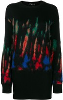 DSQUARED2 thermal-pattern knitted dress