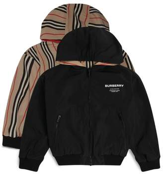 Burberry Kids Reversible Icon Stripe Hooded Jacket (14 Years)