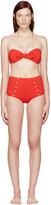 Lisa Marie Fernandez Red Poppy Button Bikini