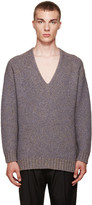 Wooyoungmi Grey V-Neck Sweater