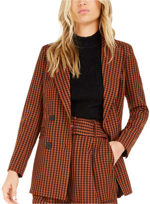 Bar III Becca Tilley x Powersuit Gingham Blazer