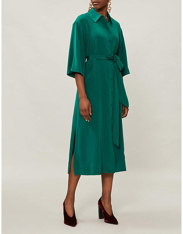 Diane von Furstenberg Belted silk shirt dress