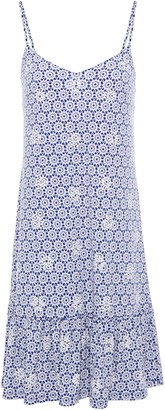 MICHAEL Michael Kors Embellished Printed Stretch-jersey Mini Dress